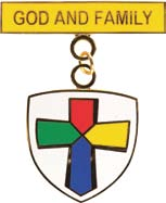 God & Family medal